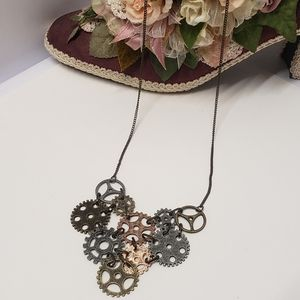 Fun Gear Style Statement Necklace